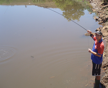 Targeting Fish On Fly