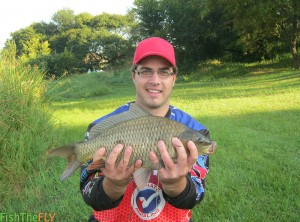 Dam Carp Caught On Fly