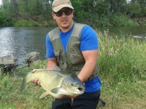 Big Grass Carp On Fly